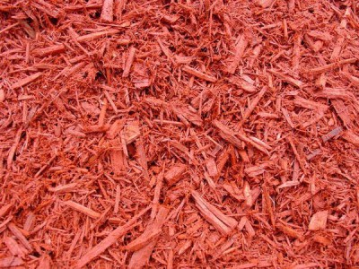Red dye mulch